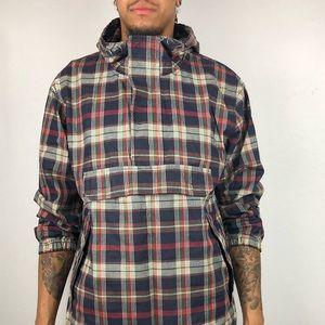 💈💈Vintage 90s Gap Plaid Anorak Poncho Jacket